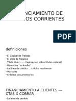 Financiamiento de Activos Corrientes