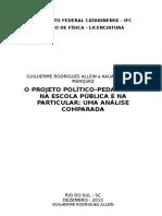 O Projeto Político-pedagógico Na Escola Pública e Na Particular