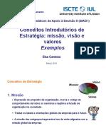 Exemplos de Missão Visão Valores 2016
