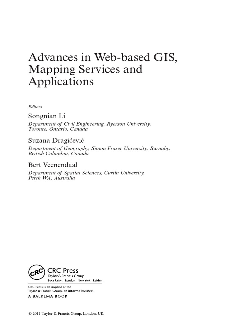 Advances in web based gis mapping services and applications advances in web based gis mapping services and applications geographic information system geomatics fandeluxe Choice Image