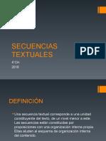 SECUENCIAS TEXTUALES 4° medio