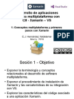 Desarrollo de apps móviles con C#-Xamarin-VS - S1