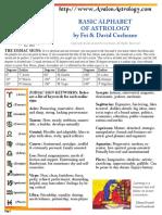 Astrology Cheatsheet