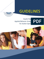 ABA Guidelines for ASD 11.2012