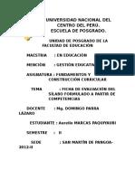 Ficha de Evaluación Del Sílabo Formulado a Partir de Competencias