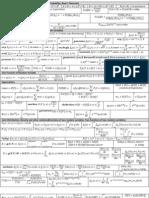 15652284 Formula Sheet Probability and Random Processes