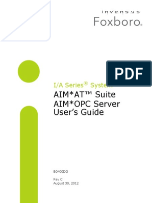 AIM*AT™ Suite AIM*OPC Server User's Guide | Computer Engineering