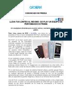 NdP - ALCATEL presenta a GO PLAY en Perú