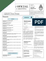 Boletín Oficial de la República Argentina, Número 33.337. 15 de marzo de 2016