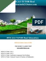 MTH 213 TUTOR Real Education/mth213tutor.com