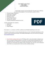 1. FEB-MARCH Monthly Health Report Saacha Dorji, Darla MSS