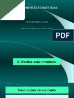 DISEÑO DE EXPERIMENTOS ESTADISTICOS