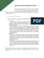 Perubahan Organisasi Dan Manajemen Stres