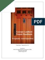 Georgia Landlord Tenant Handbook 2015