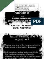 Textual Adjustment