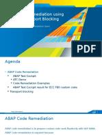ABAP Code Remediation Using ATC and Transport Blocking for HANA