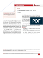 Fetal Monitoring in Open Fetal Surgery