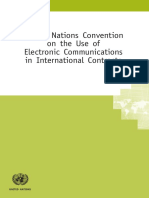 United Nations Convention on the Use of Electronic Communications in International Contracts