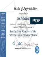 Reviewer Certificate