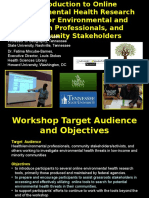 Introduction to Online Environmental Health Research Tools for Environmental and Health Professionals, and Community Stakeholders by Dr. David A. Padgett, Dr. Fatima Mncube-Barnes
