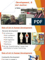 Art, Human Development, & Environmental Justice