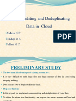 PPT Cloud Audit Deduplication