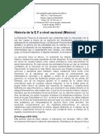 Historia de la E.F en México
