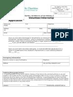 Short Intern and Volunteer Application-2