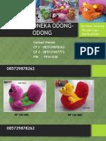 085729878262, Grosir Boneka Odong Odong, Boneka Odong Odong, Boneka Odong2