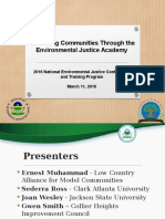 Advancing Communities Through the Environmental Justice Academy by Ernest Muhammad, Sederra Ross, Joan Wesley, Gwen Smith, Sheryl Good