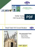 Oil Circuit Breakers PF Test