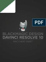 DaVinci Resolve 10 Mac Cheat Sheet