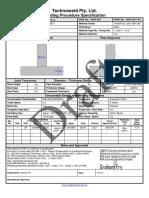 Welding Procedure Specification Sample