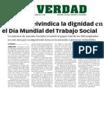 1603016 La Verdad- Gibraltar Reivindica La Dignidad en El Día Mundial Del Trabajo Social