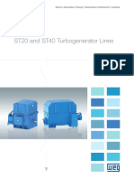 WEG Turbogenerators St20 and St40 Lines 50019094 Brochure English