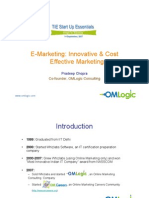 OMLogic TiE StartUp Essentials Sep 07