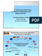 Coal for Fuels and Chemicals