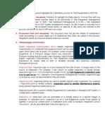 SAP Calibiration Proces