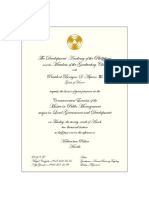 Invitation Card for the MPM-LGD Graduation