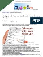 Códigos y Utilidades Secretas de Los Teléfonos Samsung Galaxy
