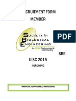 [Recruitment Form] Member of Sbe Uisc 2015[1]