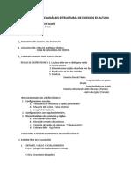 Parámetros Para El Análisis Estructural de Edificios en Altura