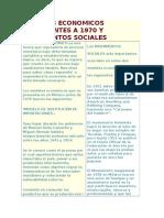 Modelos Economicos Precedentes a 1970 y Movimientos Sociales