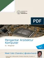 Pengenalan Arsitektur Komputer I