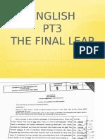 ENGLISH PT3 FINAL LEAP
