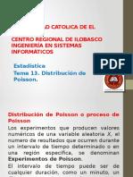Tema 14. Distribucion de Poisson