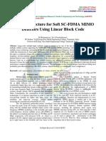 VLSI Architecture for Soft SC-FDMA MIMO Detectors Using Linear Block Code