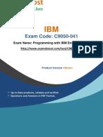 ExamsBoost C9050-041 Practice Test