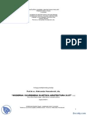 Moderna I Savremena Svetska Arhitektura Skripta Arhitektonsko