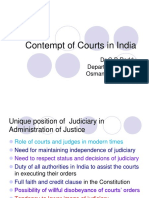 Contempt of Courts in India